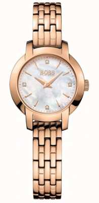 BOSS Womens Success Rose Gold Plated Mother Of Pearl Dial 1502379