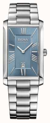 Hugo Boss Mens Admiral Stainless Steel Bracelet Blue Dial 1513438