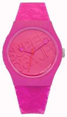 Superdry Womans Urban Pink Silicone SYL169P