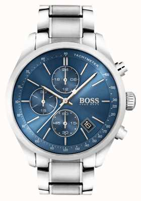 Hugo Boss Mens Grand Prix Stainless Steel Blue Dial 1513478