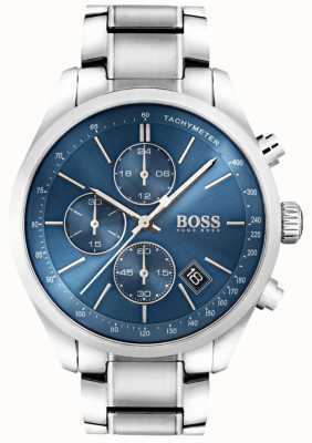 Boss Mens Grand Prix Stainless Steel Blue Dial 1513478