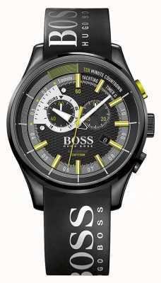 Hugo Boss Mens Yachting Timer II Black Rubber Strap Black Dial 1513337