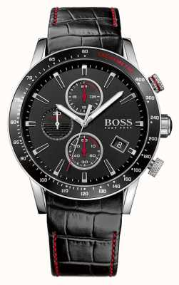 Boss Gents Rafale Black Chronograph Watch 1513390