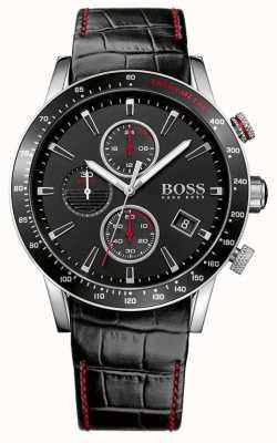 Boss Gents Rafale Black Chronograph Watch 1513390