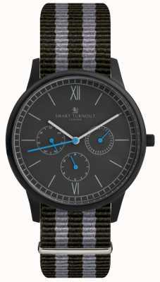Smart Turnout Time Watch - Black With Nato Strap STK2/BK/56/W