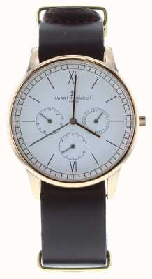 Smart Turnout Time Watch - Rose Gold With Burgandy Leather Rg Strap STK2/RO/56/W