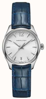 Hamilton Womans Jazzmaster Quartz Blue Leather H42211655