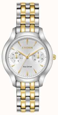 Citizen Womans Eco-Drive Silhouette Chandler Two Tone FD4014-56A