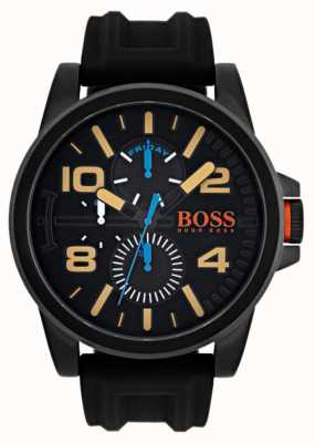 Hugo Boss Orange Mens Detroit Black Rubber Strap 1550011