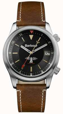 Barbour Mens Seaburn Black Brown Leather BB059BKBR