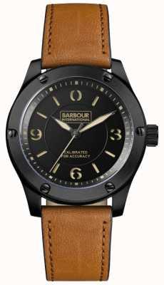 Barbour Mens Hartford Black Tan Leather BB063BKTN