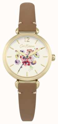 Cath Kidston Womans Floral Dial Brown CKL015TG