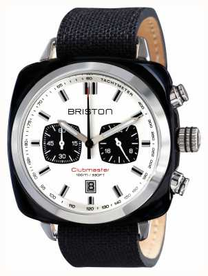 Briston Mens Clubmaster Sport Acetate Chrono Black 15142.SA.BS.2.LSB