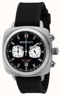 Briston Mens Clubmaster Sport Steel Chrono Black 16142.S.SP.1.RB