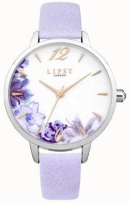 Lipsy Womans Floral Printed Dial Lilac Strap LP509