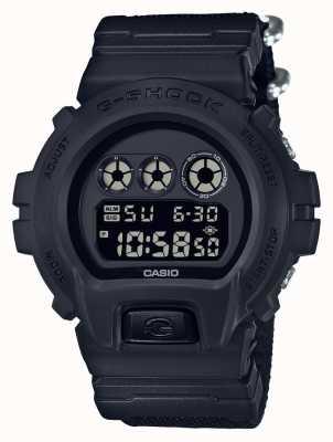 Casio Mens G-Shock Black Out Cloth Strap DW-6900BBN-1ER