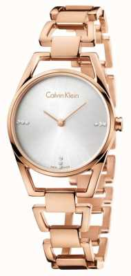 Calvin Klein Womans Dainty Rose Gold Plated K7L2364T