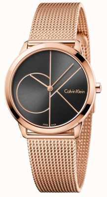 Calvin Klein Womans Minimal Rose Gold Mesh Strap K3M22621