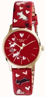 Radley Womans Printed Red Dog Strap RY2474