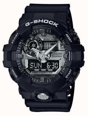 Casio Mens G-shock Analogue Digital Chronograph Navy GA-710-1AER