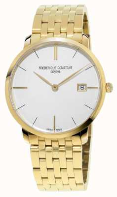 Frederique Constant Mens Slim Line Gold PVD Plated White Dial FC-220V5S5B