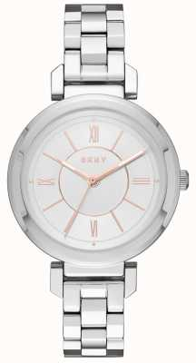 DKNY Womans Ellington Steel Silver Watch NY2582