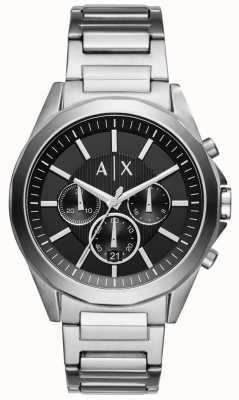 Armani Exchange Mens Stainless Steel Black Chronograph AX2600