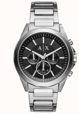 Armani Exchange Mens Stainless Steel Black Chronograph AX2600