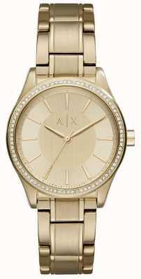 Armani Exchange Womans Steel Gold Dress Watch AX5441