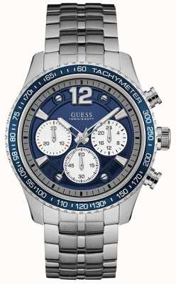 Guess Mens Fleet Chronograph Stainless Steel Blue Dial W0969G1