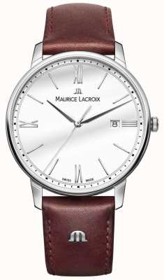 Maurice Lacroix Eliros Mens Brown Leather Strap Watch EL1118-SS001-113-1