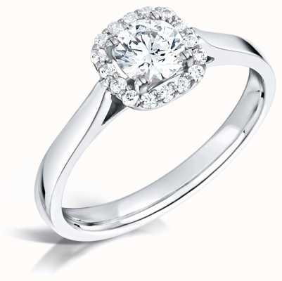 Certified Diamond 0.30ct D SI1 GIA Diamond Engagement Ring FCD28344