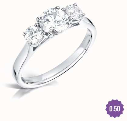 Certified Diamond 0.33ct D SI1 GIA Diamond Engagement Ring FCD28342