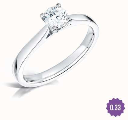Certified Diamond 0.31ct H SI1 GIA Diamond Engagement Ring FCD28380