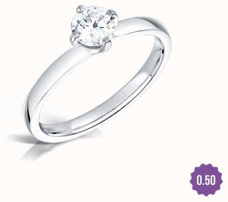 Certified Diamond 0.50ct H SI1 IGI Diamond Engagement Ring FCD28377