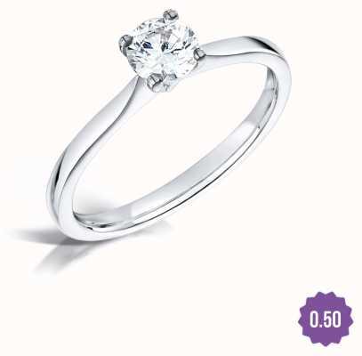 Certified Diamond 0.50ct D SI1 IGI Diamond Engagement Ring FCD28393
