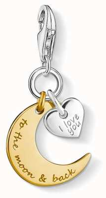 "Thomas Sabo Charm Pendant ""I Love You To The Moon And Back"" 1443-413-39"