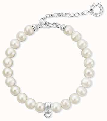 Thomas Sabo 18.5cm Charm Bracelet Freshwater Pearl, White X0225-082-14-L18,5V