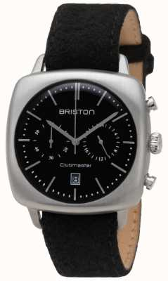 Briston Mens Clubmaster Vintage Steel Chronograph Black Flannel 17140.PS.V.1.LFB