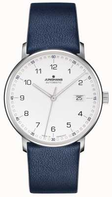 Junghans FORM A Calfskin Blue Strap with Numbers 027/4735.00