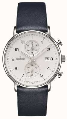 Junghans FORM C Chronoscope Calfskin Blue Strap with Numbers 41/4775.00