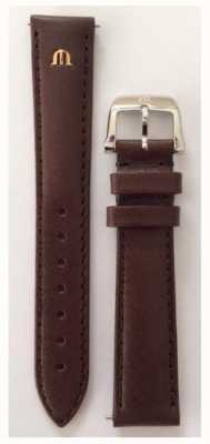 Maurice Lacroix Strap Only 16mm Brown Leather Strap Stainless Steel Buckle ML740-005003