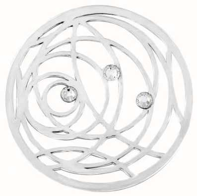 "MY iMenso SWIRL CZ "" COVER INSIGNIA 24MM (925/RHOD-PLATED) 24-1266"