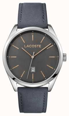 Lacoste Mens San Diego Grey Leather Strap Grey Dial 2010911