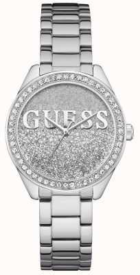 Guess Womens Glitter Girl Stainless Steel Bracelet W0987L1