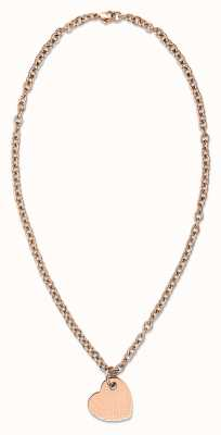 Tommy Hilfiger Womens Rose Gold Plated Heart Necklace 2700717