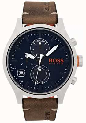 Hugo Boss Orange Mens Amsterdam Brown Leather 1550021