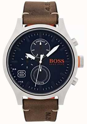 Hugo Boss Orange Mens Amsterdam Brown Leather 1550021