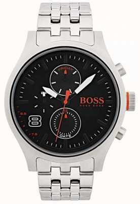 Hugo Boss Orange Mens Amsterdam Black Stainless Steel 1550024