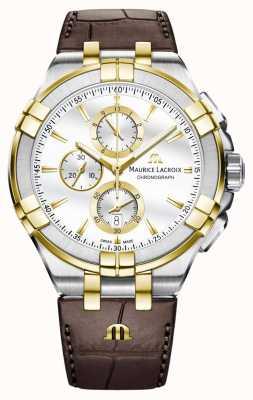 Maurice Lacroix Men's Aikon Quartz Leather Strap AI1018-PVY11-132-1